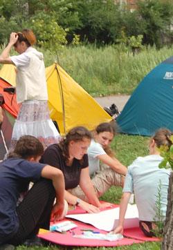 Фото. Приморский край. Участники слета православной молодежи