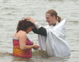 Фото. Уссурийск. Крещение в водах Кугуковского водохранилища