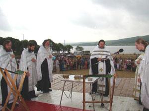 Фото. Уссурийск. В День Крещения Руси на Кугуковском водохранилище