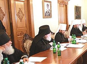 Фото. Киев. Заседание Священного Синода в Киево-Печерской лавре