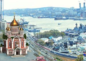 Фото. Макет Спасо-Преображенского кафедрального собора г. Владивостока