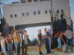 Фото. Фрагмент картины Марии Холмогоровой (г. Владивосток)
