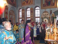 Фото. Лучегорск, архиерейская Божественная литургия в храме иконы Божией Матери «Скоропослушница»