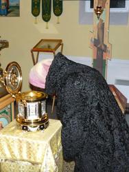 Фото. Владивосток, мощи святого Иоанна Крестителя переданы на двухнедельное поклонение в храм Игоря Черниговского