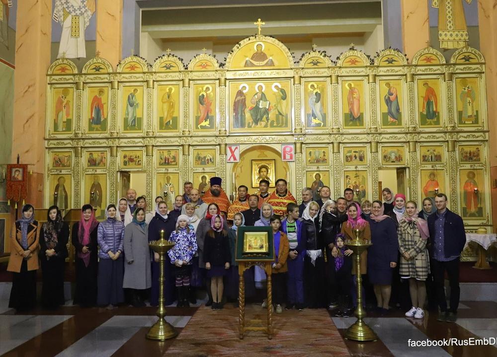 Клирик епархии совершил Пасхальные богослужения в Пхеньяне
